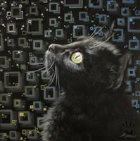 Cat Underground. Black Edition by IlonaPankevich