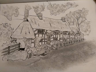 Charcoal sketch by LukewarmPsycho