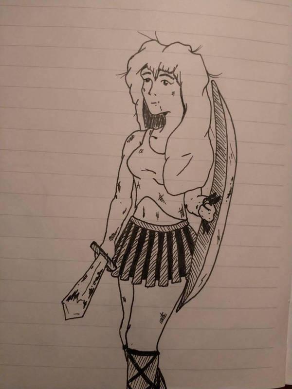Girl Warrior by LukewarmPsycho