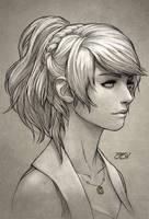 Lunafreya Sketch by JoseDalisayV