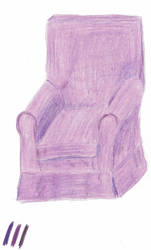 Chair in three purples. by windypoint
