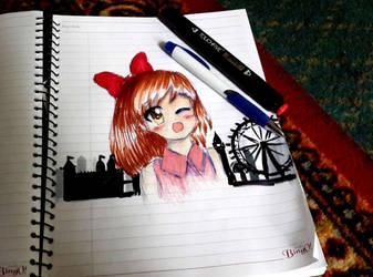 Megumi in london by Megumi-Seramu