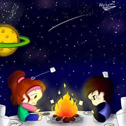 Marshmallows Moon Night!! by Megumi-Seramu