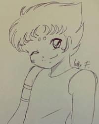 Aries Kiki sketch by pen  by ariesnopatty