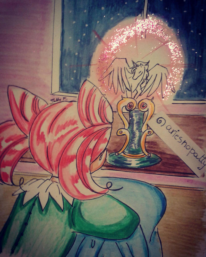 Chibi Usa and Pegasus by ariesnopatty