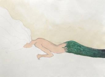 mermaid in progess by LacedUpIllustration