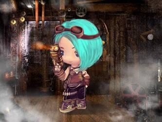 designer character Steam punk by maxtranart