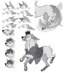 (P2U) Canine Lineart by onlDaff