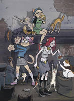 Angora Alley-Cat Girls by BrendaHickey