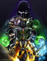 MK Ninjas Color Version - Line Art by DJOK3 by CrescentDebris