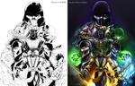 MK Ninjas: Lines -DJOK3  / Colors -CrescentDebris by CrescentDebris