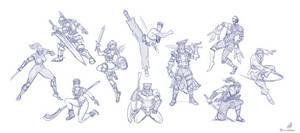 SoulBlade - Cast Sketches by CrescentDebris
