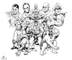 STREET FIGHTER II: The World Warrior (LINES) by CrescentDebris