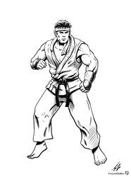 STREET FIGHTER II: Ryu (LINES) by CrescentDebris
