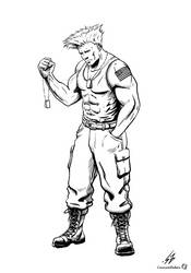 STREET FIGHTER II: Guile (LINES) by CrescentDebris