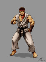 STREET FIGHTER II: Ryu (COLOR) by CrescentDebris