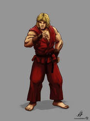 STREET FIGHTER II: Ken (COLOR) by CrescentDebris