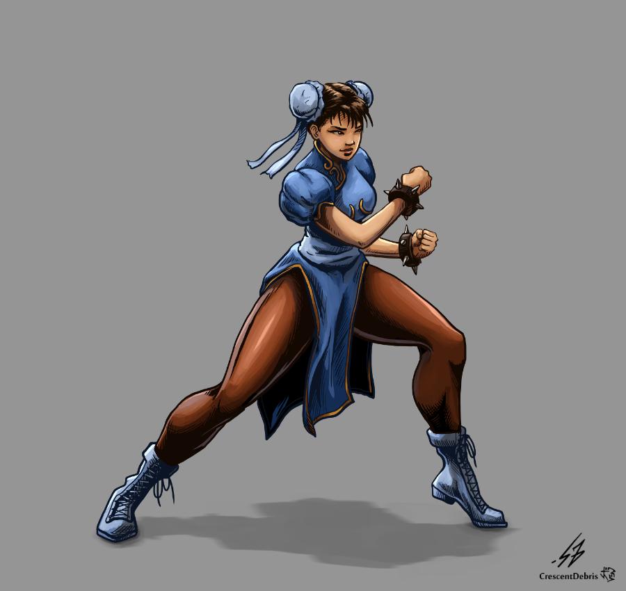 STREET FIGHTER II: Chun Li (COLOR) by CrescentDebris