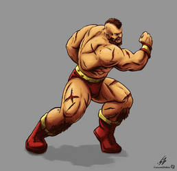 STREET FIGHTER II: Zangief (COLOR) by CrescentDebris