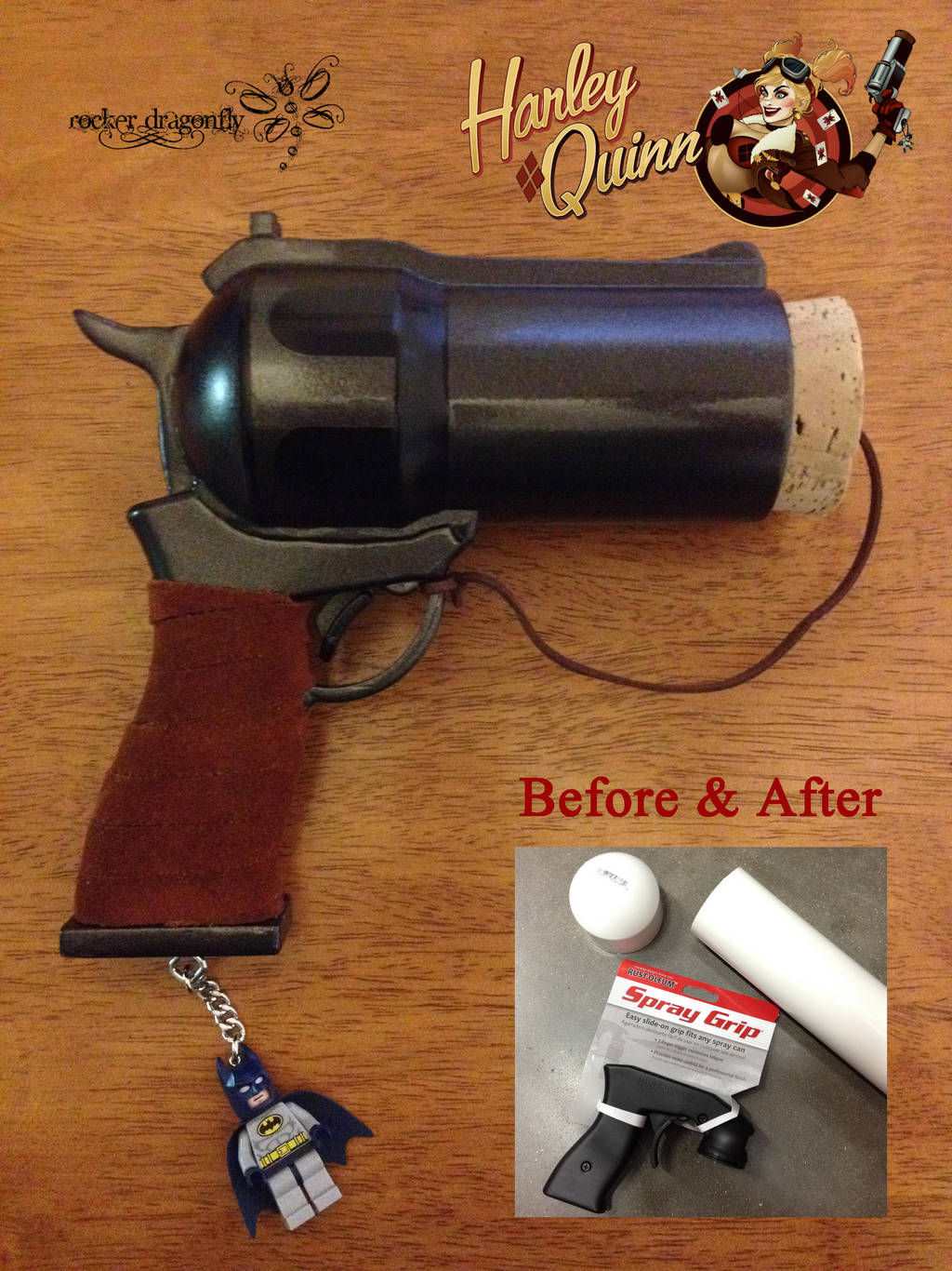 Harley Quinn Cork Gun by RockerDragonfly