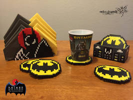 Batman Coasters and Napkin Holder by RockerDragonfly
