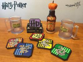 Harry Potter Coasters by RockerDragonfly