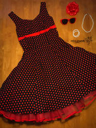 Polka Dot Dress by RockerDragonfly