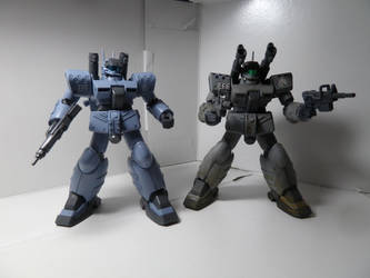 White Dingo Guncannon MP P-Bandai vs Custom Build by Blayaden