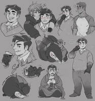 [ $ ] Sketch page Commission for Silent-koi [1/2] by Reiki-kun