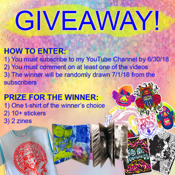 YouTube Giveaway Rules! Now Thru 06 30 2018 by madison-cowles-serna