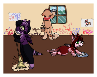 [Wyngro] Helping Clean the Nook by Cherry-Spot