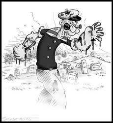 zombie Popeye by CapnDeek373