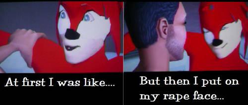 Knuckles Rape Face by HyperEspio