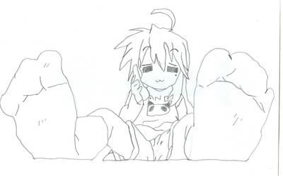 Konata Sketch 1 by HyperEspio