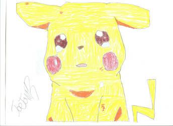 Sad Pikachu by HyperEspio