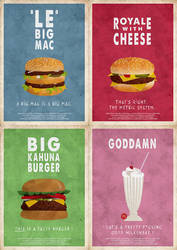 Pulp Fiction posters by PaDubs