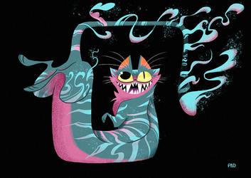 Smokey Cheschire Cat by PaDubs