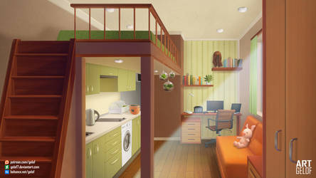 Daytime little room by Gelof7