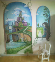 Castle Mural by MaggieWallPainting