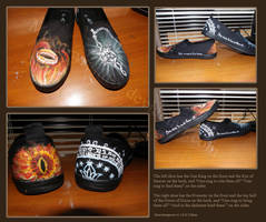 LotR Painted Shoes by susmishious