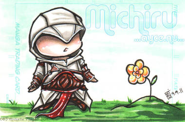 .Commission: Altair Sketchcard by AyceWatah