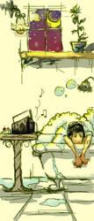 Lonely Bath Night by Aquaran