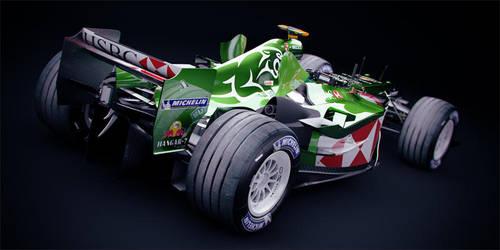 F1 Jaguar R4 - 2004 Rear by DubberRucky