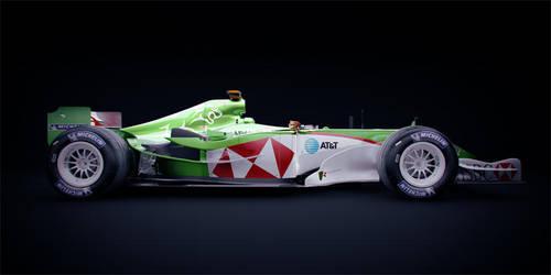 F1 Jaguar R4 - 2004 Side by DubberRucky