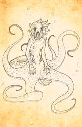 Octopus Girl by AggroArt