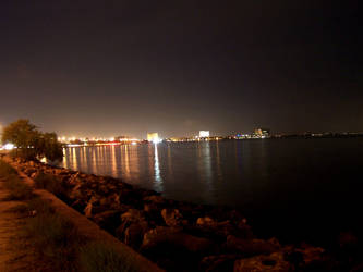 tampa bay at night by dhavaljani