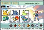 Ash Ketchum Johto Pokemon trainer card by lightyearpig