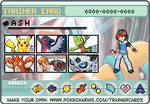 Ash Hoenn Trainer card by lightyearpig