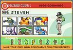 Steven's Pokemon trainer card by lightyearpig