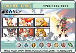 Carly's Pokemon Trainer Card by lightyearpig